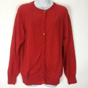 Vintage Designers Originals Red Cardigan Sweater